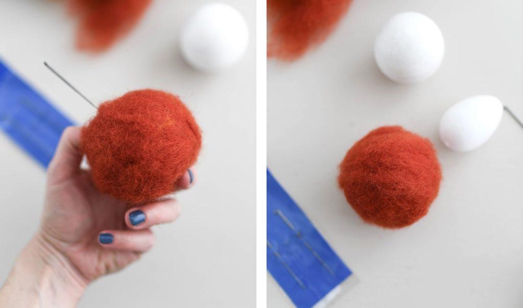 Herbstliche DIY-Deko: Mini-Kürbisse mit der Nadel filzen
