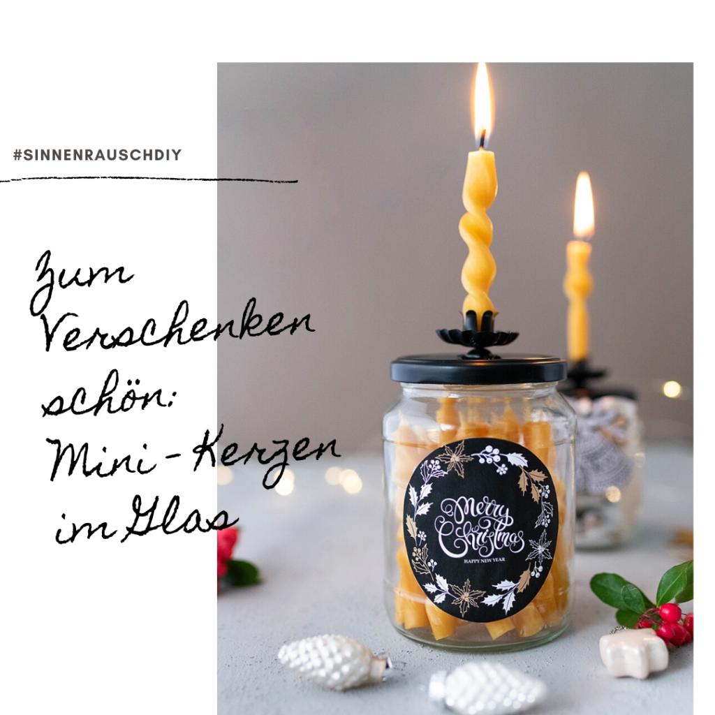 Weihnachtliches Geschenkeglas + Bienenwachskerzen selber eindrehen