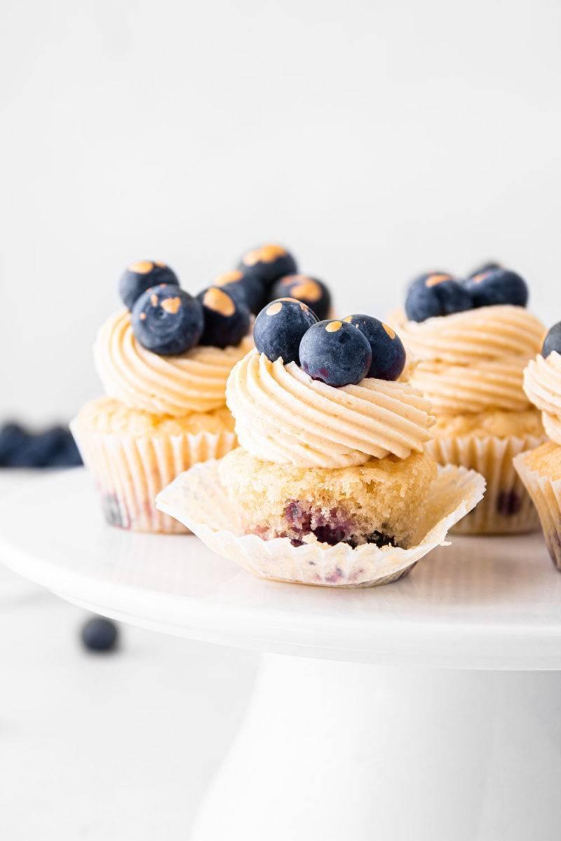 vegane zitronen blaubeer cupcakes